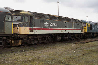 Although it wasn't known at the time, there was a happy ending in store for 47643 with its ultimate preservation by the SRPS at Bo'ness (19/03/1994)