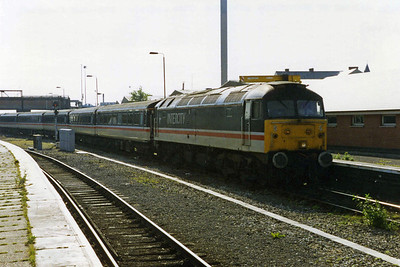 47820 arrives at Nottingham with Rail UK's 1Z10 0720 Lincoln-Carlisle charter (11/06/1994)