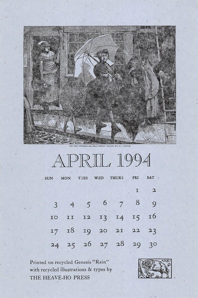 April, 1994, Heave-Ho Press