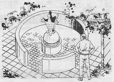 Tijdens het 33-jarig bestaan van Kiek ze Kieke werd de voormalige fontein op Plein 1944 voorzien van een standbeeld.