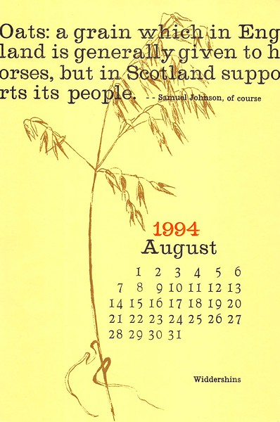 August, 1994, Widdershins
