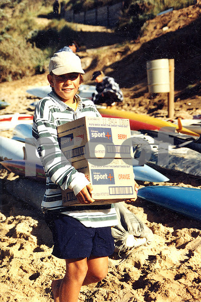 1996-01 UT - carrying boxes of Sports Plus