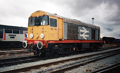 20 118 at Crewe Basford Hall Yard, 26th August 1995