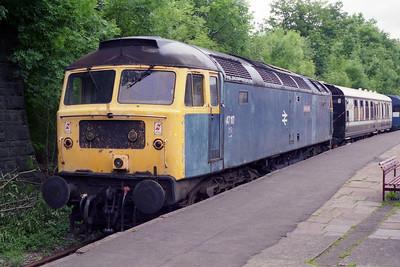 47117 'Sparrow Hawk' awaits its next duty at Bury (12/06/1995)