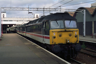 47805 pauses at Coventry with 1O66 0717 Manchester-Brighton (29/05/1995)