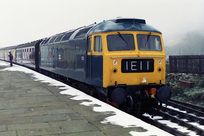 47402 'Gateshead' is pictured on arrival at Rawtenstall with the 0900 ex-Bury during at running day at the East Lancashire Railway (04/03/1995)