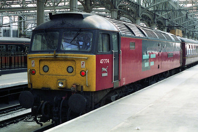A close-up of 47774 at Glasgow Central after the crowds had dispersed (06/05/1995)