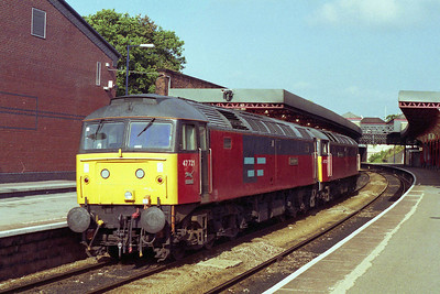 47522 'Doncaster Enterprise' + 47721 'Saint Bede' head north through Cheltenham Spa (09/10/1995)