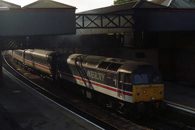 A few hours later, 47830 is pictured again leaving Cheltenham with 1M56 (09/10/1995)