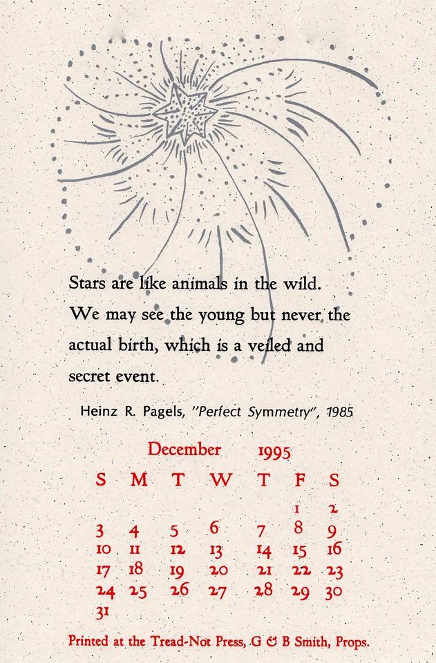 December, 1995, Tread-Not Press