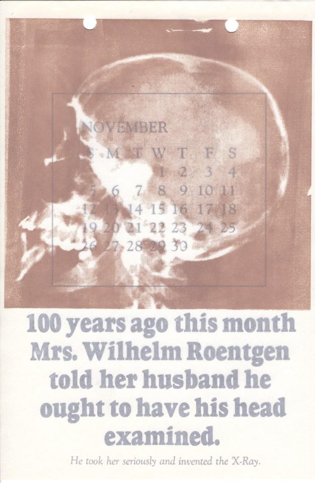 November, 1995, No Name Press
