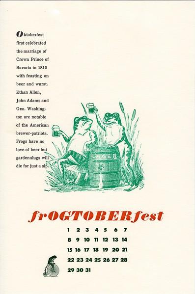 October, 1995, Cycling Frog