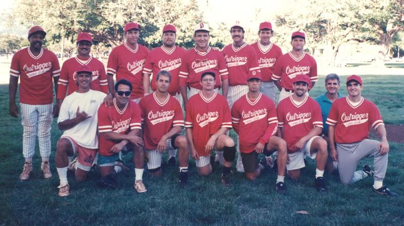 1996 Outrigger Softball Team