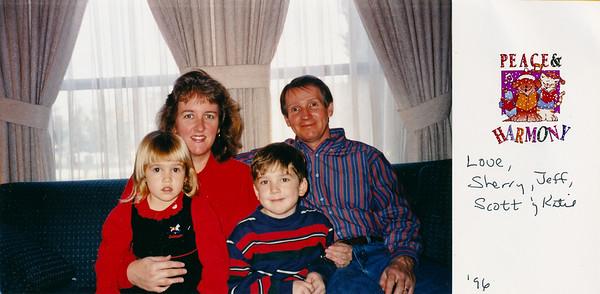 1996 Christmas Card Photo
