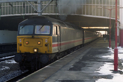 47843 powers away from Stoke-on-Trent with 1M05 0558 Paddington - Manchester Piccadilly (03/02/1996)