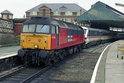 A final look at 47780 prior to departing Holyhead for what was thankfully an uneventful run back to Crewe with 1A65 1537 to London (11/02/1996)