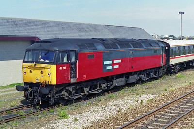 A close-up of 47761 having itself been through the washer (11/05/1996)