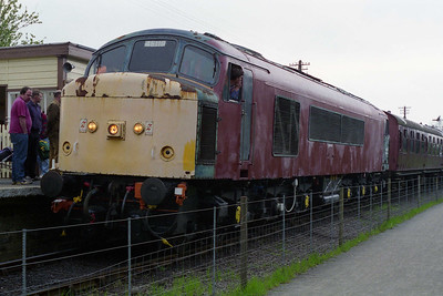 A partially-restored 45118 is seen at Pitsford & Brampton after working the 1500 round trip (12/05/1996)