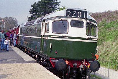 Also in action at the Gala was 27056, seen here at the head of the 1340 from Pitsford (12/05/1996)