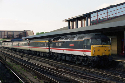 47831 'Bolton Wanderer' arrives at Oxford later that evening with 1O90 1230 Glasgow - Brighton (14/07/1996)
