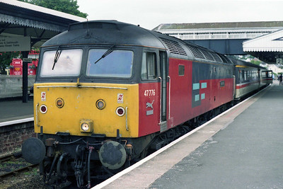 Later that afternoon 47776 waits to return north with 1S93 1501 Paignton - Glasgow (13/07/1996)