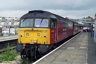 47776 'respected' is pictured on arrival at Paignton with the Summer Saturday 1V41 0810 ex-Liverpool, which it had worked forward from Birmingham New Street (13/07/1996)