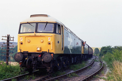 47401+47350 preapre to depart from Riddings with the return leg of the 'Beer-ex' to Hammersmith and Butterley (20/07/1996)