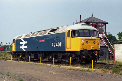 47401 'North Eastern' makes its way off shed at Swanwick Junction prior to running light to Hammersmith (20/07/1996)