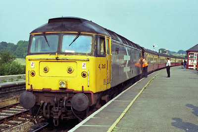 47350 'SCORPION' waits to depart from Swanwick Junction after relieving 45133 on the return leg from Riddings of the 1620 circuit from Hammersmith (20/07/1996)