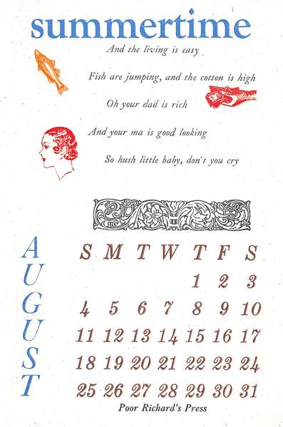 August, 1996, Poor Richard's Press