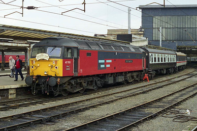 47793 is coupled up to 1Z54 1340 return leg to Shrewsbury via Worcester and Hereford at Carlisle (10/05/1997)