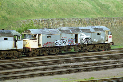 A last look at the legendary 47325 at Tinsley (02/05/1997)