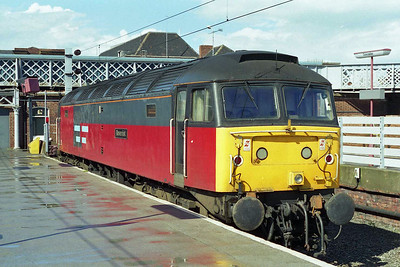 47773 'Reservist' awaits its next duty in Platform 2 at Doncaster (04/05/1997)