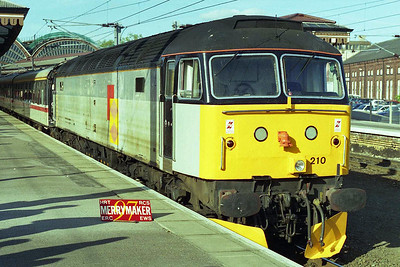 Having taken the direct route back to York via Malton, 47210 poses for the cameras before giving way toa '90' for the remainder of the journey back to London (24/05/1997)