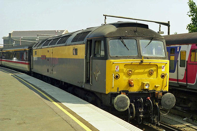 47976 'Aviemore Centre' is pictured on arrival at Ramsgate with 1O99 0856 from Birmingham New Street (16/08/1997)