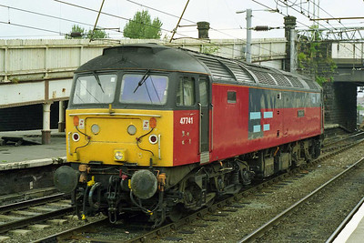47741 'Resilient' runs round at Carlisle after working forward from York via the S&C on Hertfordshire Railtours' 1Z48 0827 charter from London Kings Cross (27/08/1997)