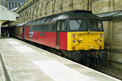 Later that afternoon 47792 'Saint Cuthbert' is seen waiting to depart from Edinburgh Waverley with the 1Z50 1650 return leg to Marsden via the ECML. Amazingly the train enjoyed an uninterrupted 204-mile non-stop run to York (02/08/1997)