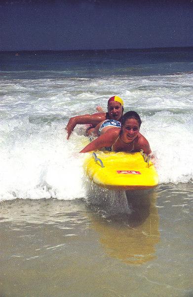 Feb 1999<br /> Portsea Back Beach<br /> Board Rescue Training