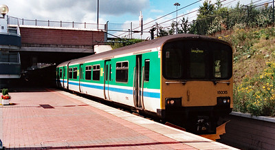 150 015 at Manchester Airport on 15th August 1998