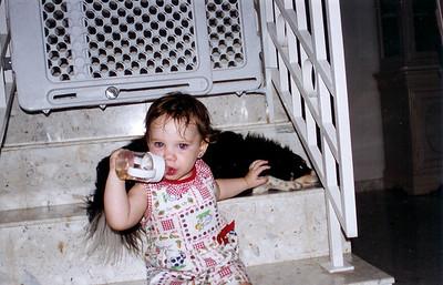 Natalia pets chelsea