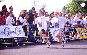 1998 Races - 1998 Garden City 10K - Two younguns in the kids' run