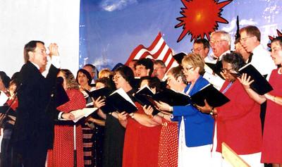 Rick conducting choir