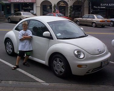 When this photo was made, it was still a big deal to see a New Beetle