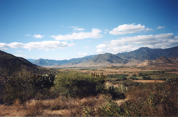 Panorama outside Oaxaca.