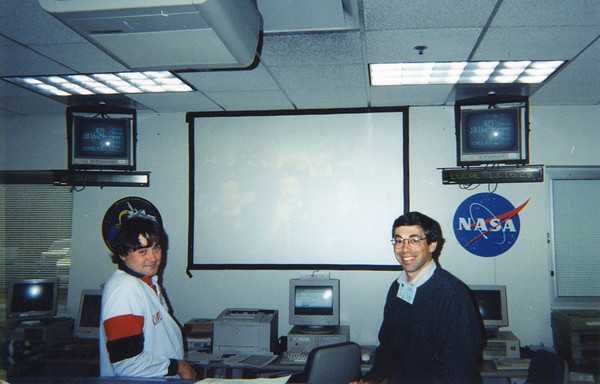 The next day, Andy Schofield  and I are at NASA Glenn in Cleveland to monitor the experiments ongoing on the Shuttle.