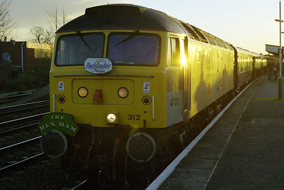 47312 'Parsec of Eusrope' catches the first rays of sun at Leamington Spa, whilst working Pathfinder Tour's 1Z88 0550 Reading  - Crewe 'Rex Ham' railtour as far as Birmingham New Street (28/02/1998)