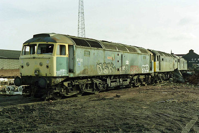 Along with several of their class mates, Former Tinsley residents 47102, 47378 and 47190 had made the short journey to Booths by the time of my next visit in mid-March (15/03/1998)