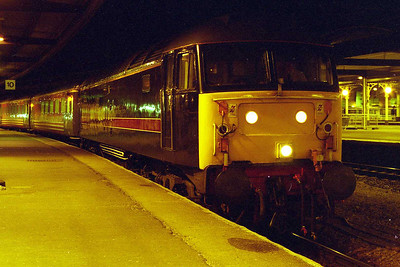 Ending the day on a happier note, here's 47701 'Waverley' at York later that evening prior to working 1M59 2024 to Birmingham New Street (08/02/1998)
