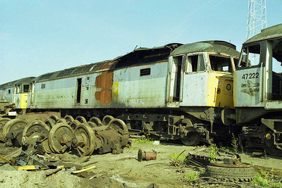 Traces of the extensive fire damage which ended its career are clearly visible in this view of 47144 at during my final visit to Booth's (17/05/1998)