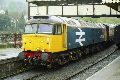 47449 is pictured again on arrival back into Llangollen with the 1200 from Carrog (19/04/1998)